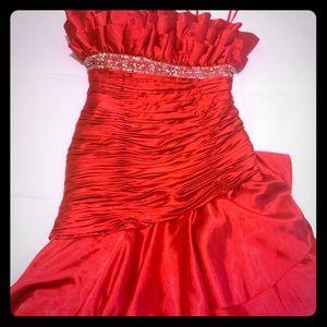 Women mermaid fancy dress / red / used 3 times